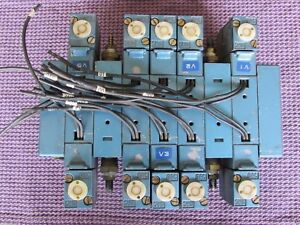 Lot Mac Pneumatic Valve Bank Manifold Electric Solenoid 24vdc Piloted