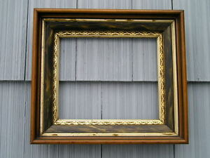 Antique Aesthetic Eastlake Victorian Unusual Deep Gold Gilt Picture Frame 10 X12