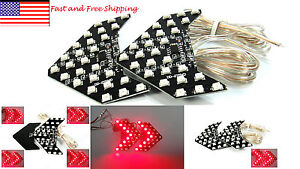 Red 27 Smd Led Sequential Arrow Panel Car Side Mirror Turn Signal Blinker Light