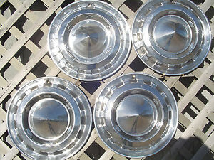 1956 Chevrolet Chevy Belair Nomad Bel Air Hubcaps Wheel Covers Antique Vintage