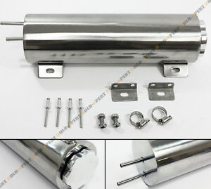 3 X 10 Universal Polished Stainless 30 Oz Radiator Over Flow Tank Can Sbc Bbc