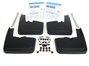 2015 2018 Ford F 150 Front Rear Black Molded Splash Guards Mud Flap With Lip Oem