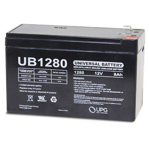 UPG 12V 8Ah SLA Battery Replacement for Lowrance Universal Portable Fishfinder