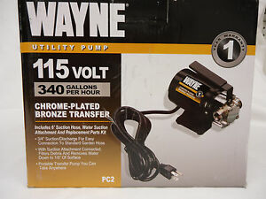 Wayne Utility Pump 115 V 340 Gph Portable Transfer Pump 57717 wyn1