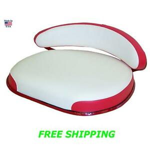 Ih Farmall New 460 560 660 Seat Frame Cushions Backrest Red White