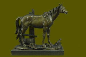 Art Deco Collector Large Arabian Horse Bronze Sculpture Lost Wax Figurine Figure
