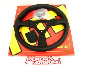 Momo 320mm Monte Carlo Leather Steering Wheel