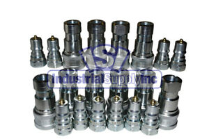 10 Sets Of 1 4 Iso 7241 1 B Hydraulic Quick Disconnect Couplers