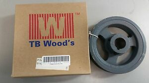 Tb Woods 2ak61118 Fhp V belt Sheave A Belt Section 2 Grooves 1 1 8 Bore
