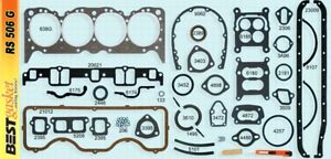Chevy 348 Full Engine Gasket Set Best Cylinder Head intake exhaust valve Cover
