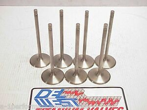 7 Del West 5 16 Titanium Intake Valves 5 820 Long 2 180 Bead Groove
