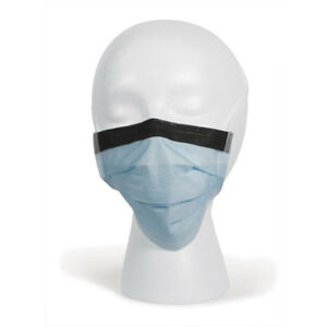 Disposable Surgical Face Masks Tie on Anti fog Foam Band Latex Free Blue 300 Pk