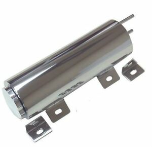 Radiator Overflow Tank Universal 3 X 9 Polished Stainless Steel Free Shipping