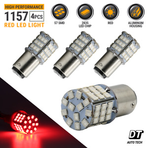 Syneticusa 4x 1157 Led Red High Power Stop Brake Tail Light parking Bulbs
