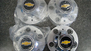 Chevy Gmc 4x2 Pickup Van 5 Lug Rally Wheel Center Caps New Chevy Emblem
