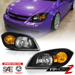 05 10 Chevrolet Cobalt Pontiac G5 Infinity Black Oe Style Headlights Lamps Pair