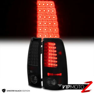 For 99 02 Chevy Silverado 1500 2500hd 3500hd Smoked Black Led Tail Brake Light