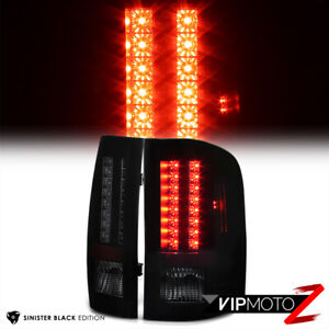 Sinister Black 2007 2013 Chevy Silverado 1500 2500hd 3500hd Smoke Led Tail Light