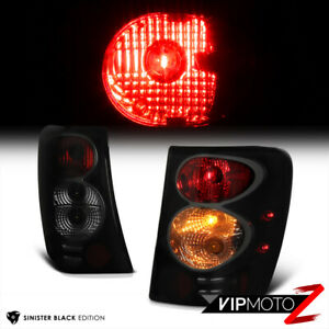For 99 04 Jeep Grand Cherokee Wj Wg Sinister Black Smoke Tail Light Brake Lamp