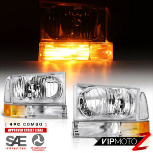 99 04 Ford F250 F350 F450 Superduty Excursion Factory Style Headlights Corner