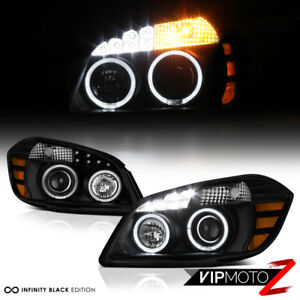 2005 2010 Chevrolet Cobalt Black Led Smd Angel Eye Headlights Pontiac G5 Pursuit