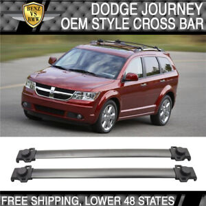 Fit For 09 17 Dodge Journey Oe Style Roof Rack Cross Bar Crossbar Black Aluminum