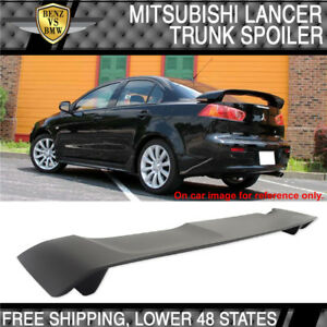 2008 2017 Mitsubishi Lancer Oe Style Rear Trunk Spoiler Wing Matte Black Abs