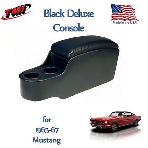 Black Classic Console For 1965 1966 1967 Mustang By Tmi In Stock Ready To Ship