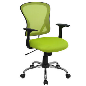 Flash Furniture Mid back Green Mesh Office Task Chair With Chrome Finished Base