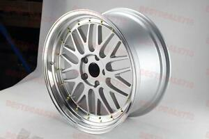 19 Silver With Gold Lm Style Rims Fit Acura Rsx Tsx Tl Honda Civic Accord Mazda