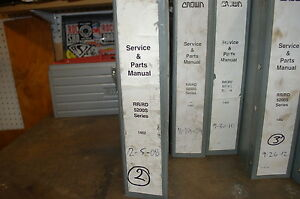 Crown Rr Rd 5200s Reach In Truck Forklift Service Repair Parts Manual Book Shop