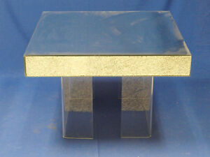 70 S Hollywood Regency Glam Chic Mirrored Coffee Table W U Channel Lucite Legs