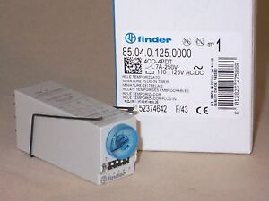 Finder Relay 85 04 0 125 0000 Plug in Timer Relay nib