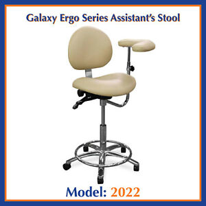 Galaxy 2022 Ergonomic Dental Assistant s Seat W Non ratchet Arm Stool Chair