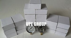 25 Pack Liquid Filled Pressure Gauge Hydrauilcs 2 5 Dial 60 Psi Lower Mnt 1 4