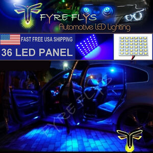 1x Super Bright Blue 36 Led Panel Light For Dome Map Cargo Trunk Lights 36pb