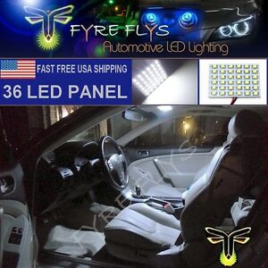 1x 6000k Xenon White 36 Led Panel Light For Dome Map Cargo Trunk Lights 36pw