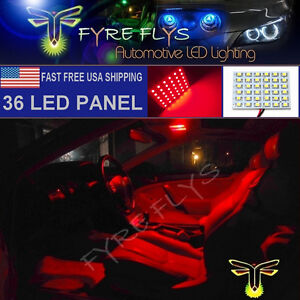 1x Super Bright Red 36 Led Panel Light For Dome Map Cargo Trunk Lights 36pr
