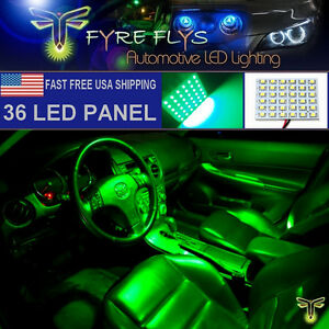 1x Super Bright Green 36 Led Panel Light For Dome Map Cargo Trunk Lights 36pg