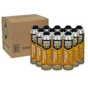 Dow Great Stuff Pro Wall And Floor Adhesive 26 5 Oz Gun Foam 24 Cans Total
