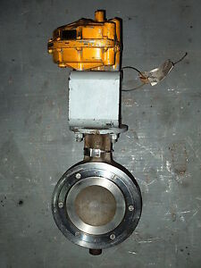 6 Posi seal Ss Wafer Butterfly Valve W matryx 200 Actuator