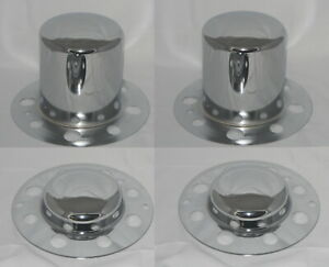 Set Of 4 Dually Fits Some Alcoa Eagle 8 Lug Wheel Center Caps Chrome No Logo