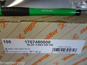 Weidmuller 1707480000 Pcb Plug in Connector Brand New 100 Pieces