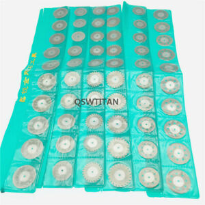 60pcs Dental Diamond Polishing Wheel Saw Disc Rotary Tool