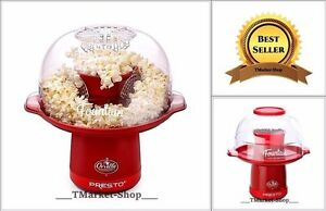 Hot Air Popcorn Maker Presto Red Retro Popper Machine Kids Party Movie 20 Cups