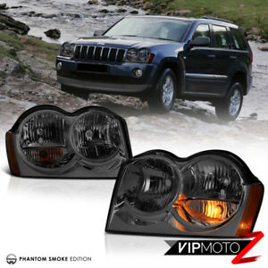 smoke For 2005 2007 Jeep Grand Cherokee Wk Tinited Front Headlights Assembly