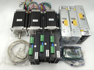 Motion Control 3axis Nema34 Stepper Motor L114mm Xyz Axis Cnc Router Printer Kit