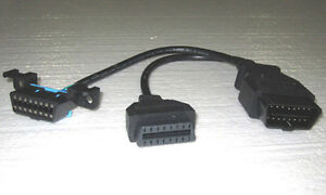 Obd2 Y Splitter Cable Universal Oem Underdash Mounting Y Adapter Obdii Ud