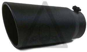 Diesel Black Stainless Steel Colt Exhaust Tip 4 Inlet 5 Outlet 15 Long