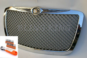 05 2010 Chrysler 300 Chrome Mesh Bentley Grill Grille With Installation Tool